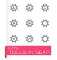 tools in gear icon set vector image