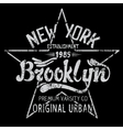 Brooklyn print design vector image