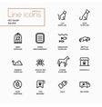Pet Shop - Single Line Pictograms Set vector image