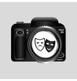 digital photo camera theater masks vector image