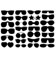 Different sunglasses vector image