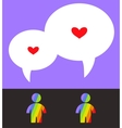 two inlove gay couple vector image vector image