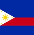 philippine flag vector image
