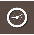 Clock Icon On Dark Background vector image
