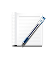 Pen and notebook isolated on white vector image