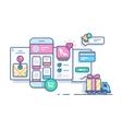 Online mobile shop vector image