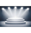 Illuminated stage podium for award ceremony vector image