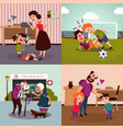 colorful family violence concept vector image