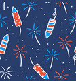 fireworks and sparklers on a dark background vector image