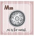 Metal vector image