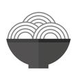 plate of spaghetti icon vector image