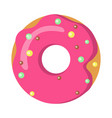 sweets picture of doughnut with pink sprinkles vector image