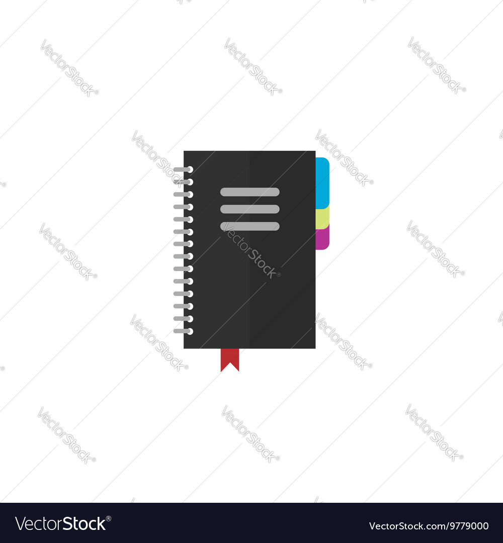 Notebook icon isolated on white background vector