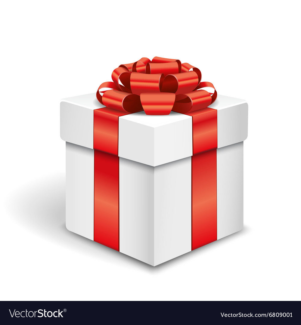 Gift box on white background vector