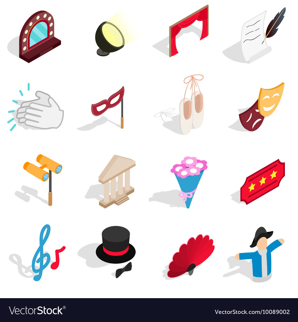 Tre icons set isometric 3d style vector