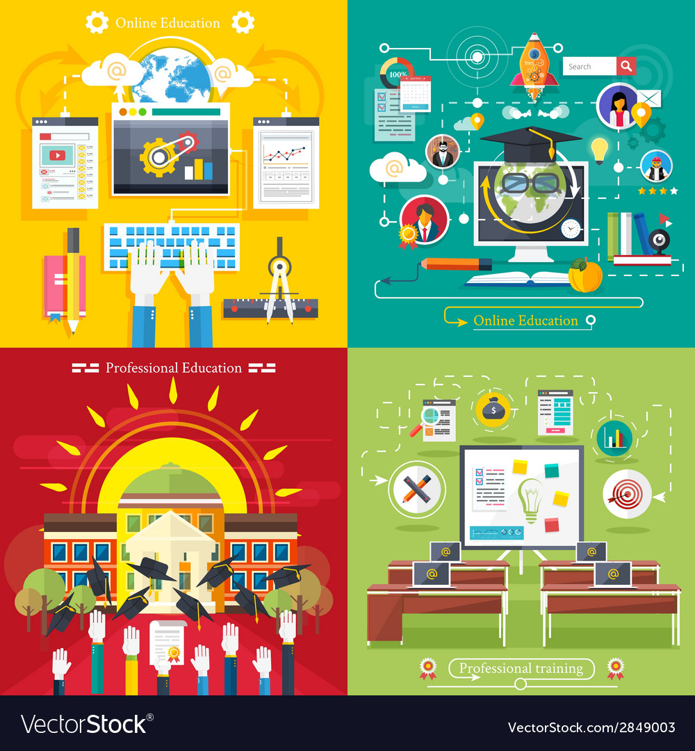Education online education professional education vector