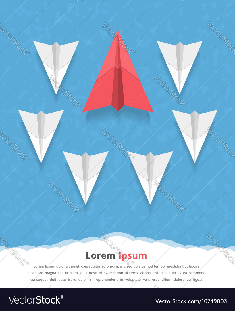 Paper airplanes vector