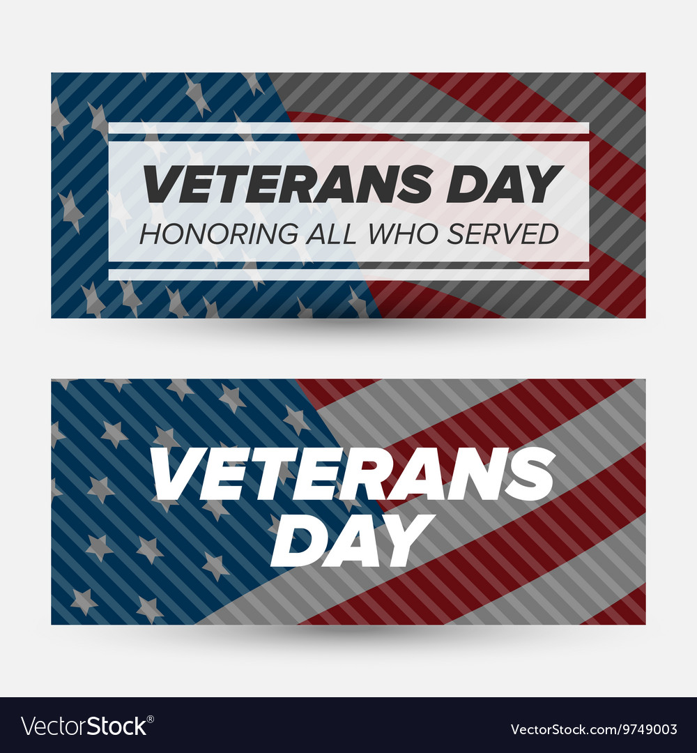 Veteran day banners vector