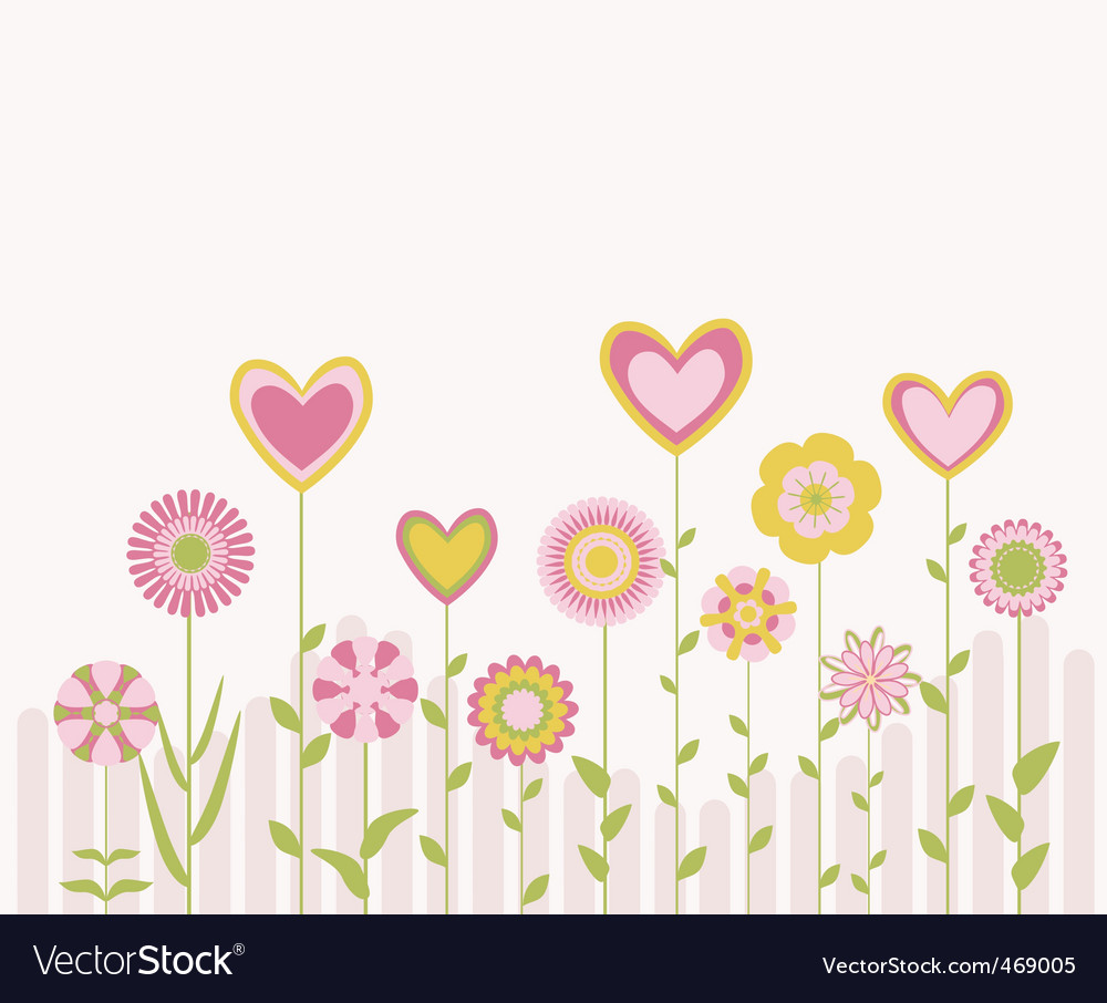 Cute flowers vector