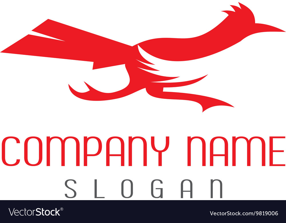 Roadrunner bird logo vector
