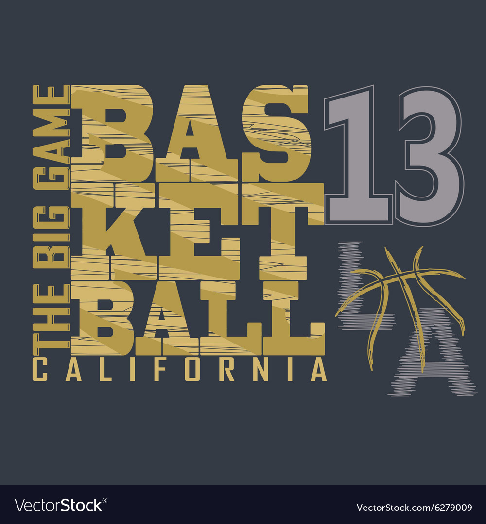 Basketball tshirt graphic design vector