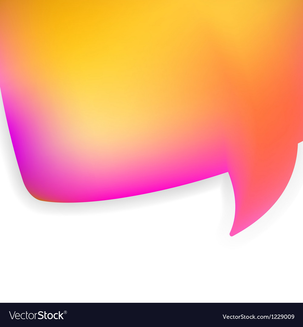 Bubble for speech pink and orange eps8 vector