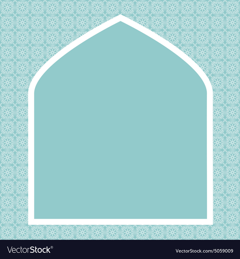 Islamic card vector