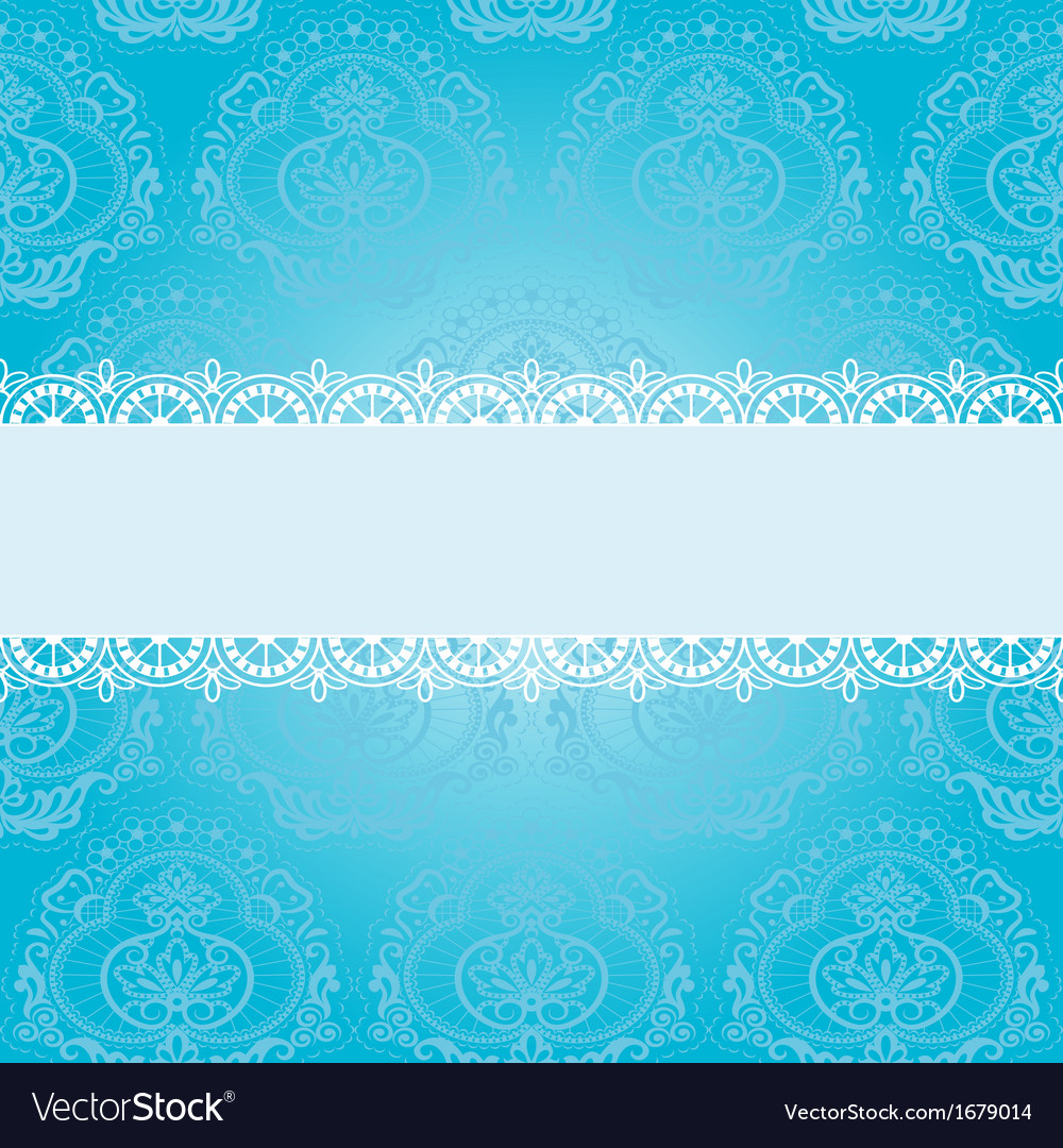 Blue square napkin vector