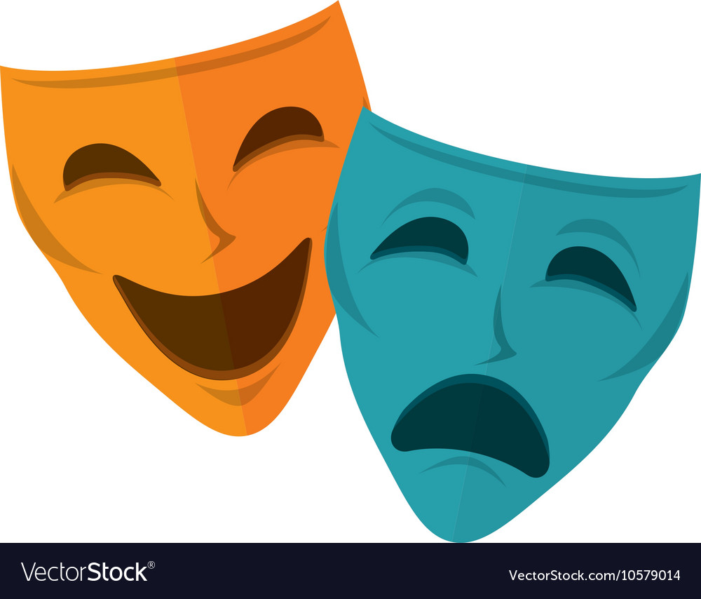 Drama and comedy mask vector