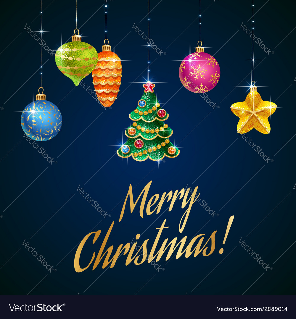 Flash christmas tree blue vector