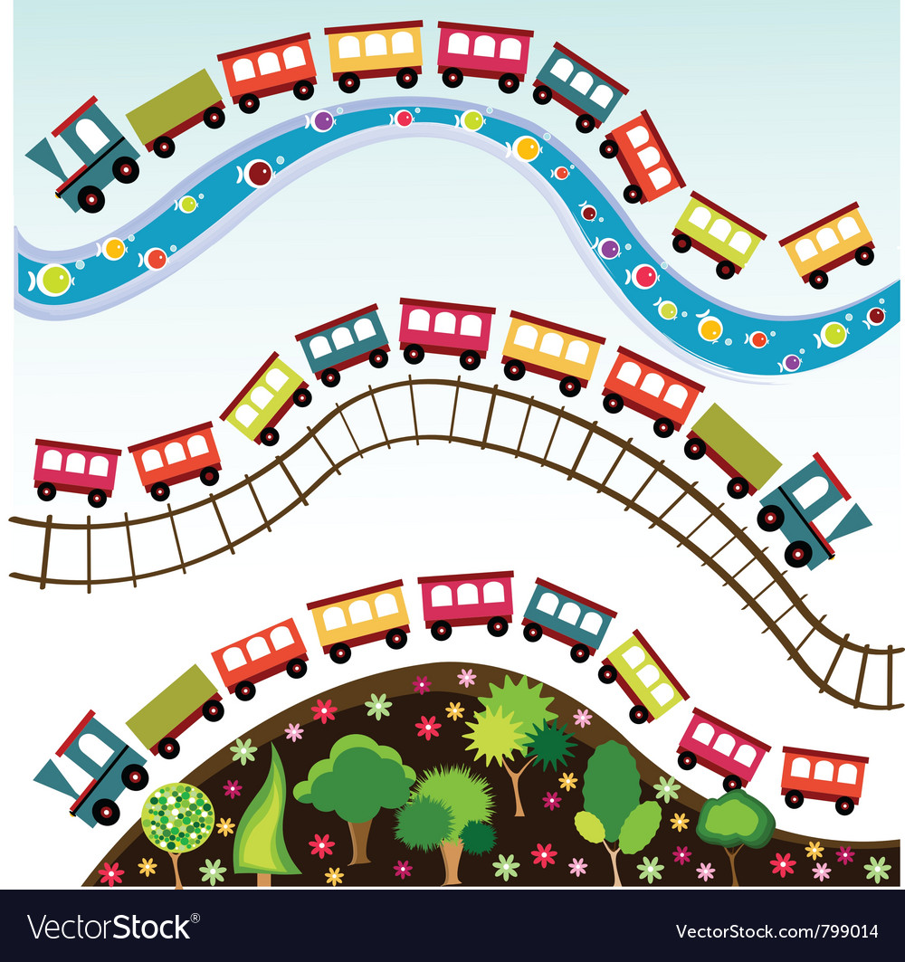 Train pattern toy vector