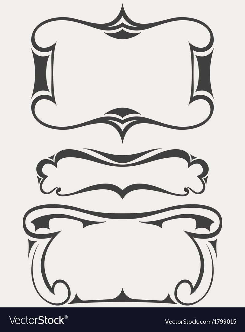 Set of frames in artdeco style vector