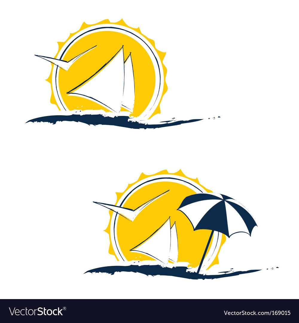 Summer holiday concept vector
