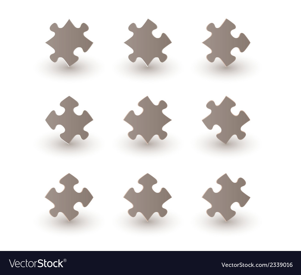 Brown puzzle pieces vector