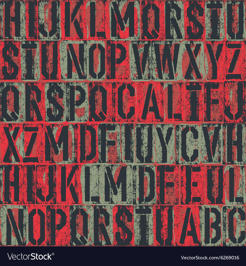 Old letterpress seamless vector