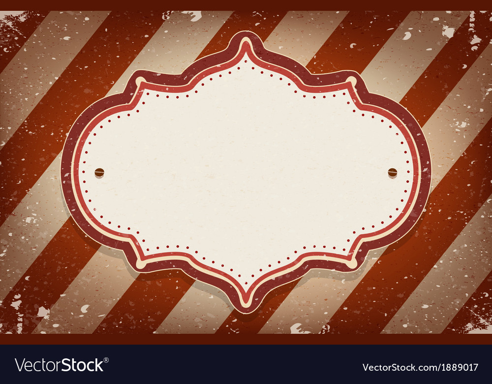 Vintage circus inspired frame vector