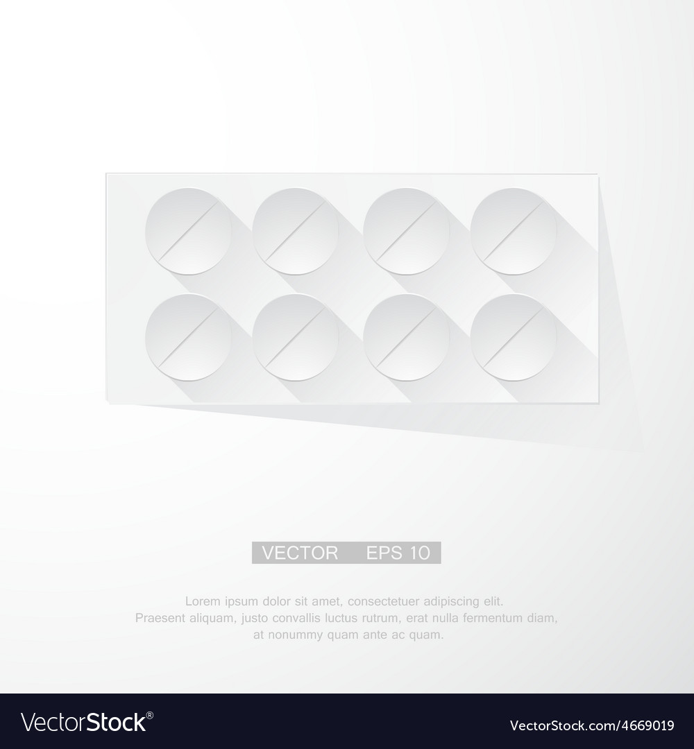 Pack of pills vector
