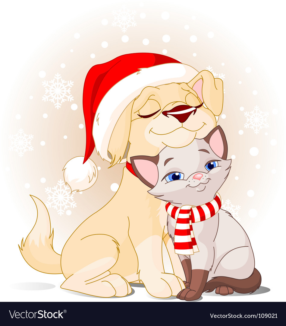 Christmas friends vector