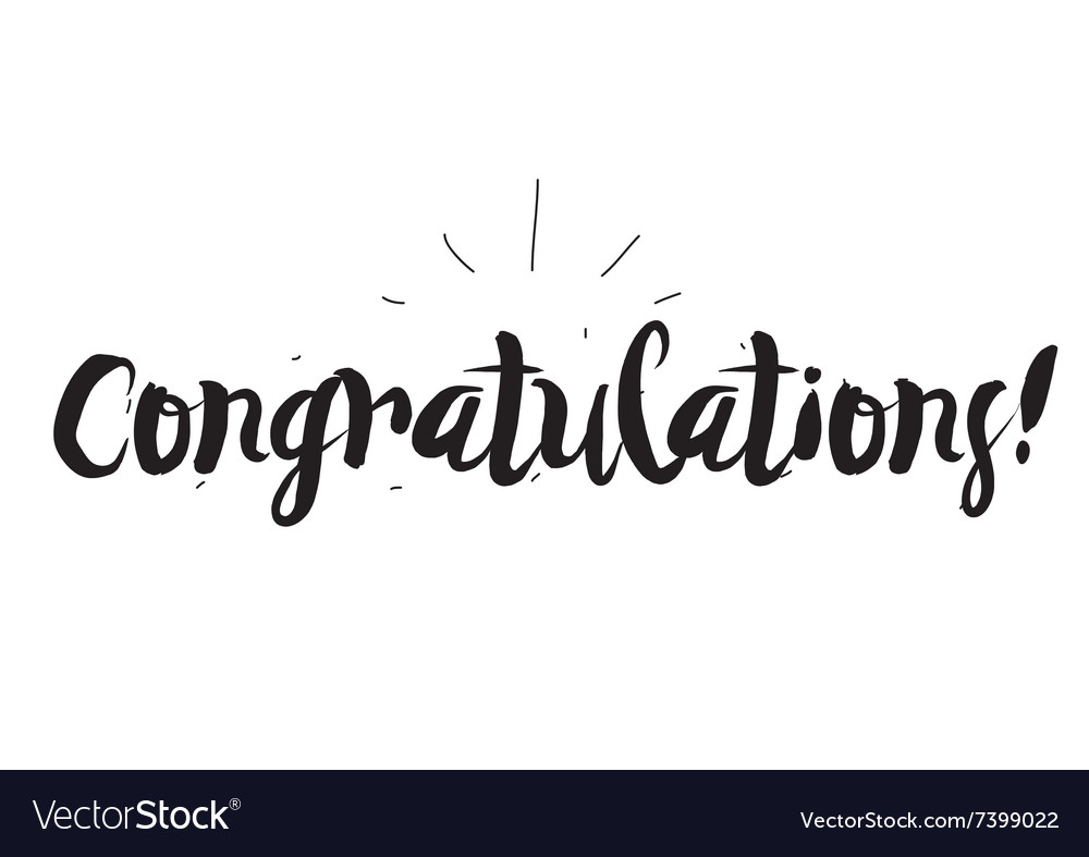 Congratulations greeting card with modern vector