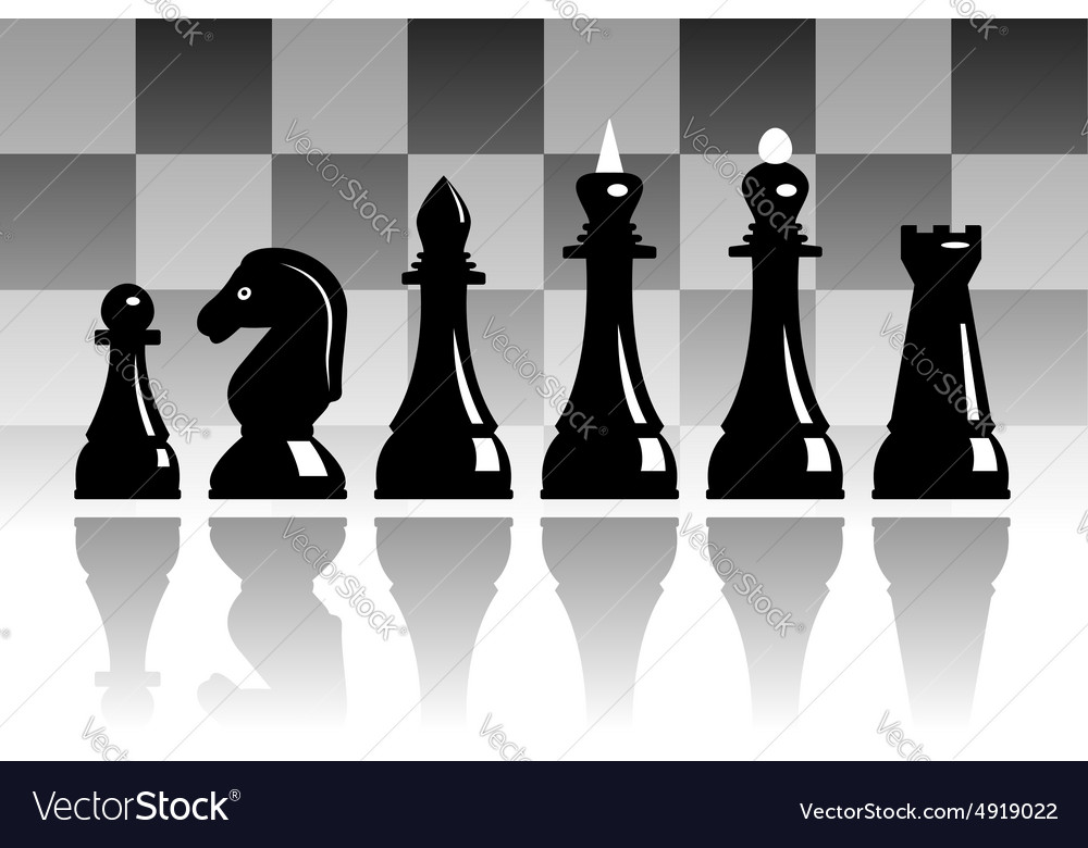 Set of chess vector