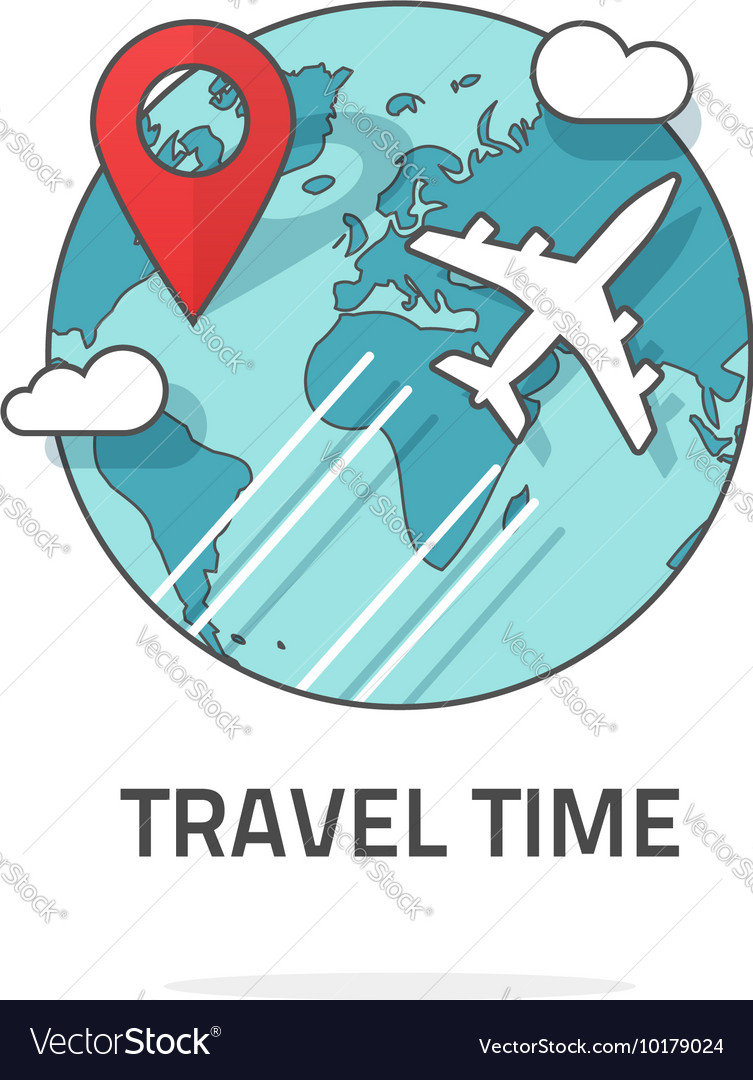 Travelling by plane concept travel and world trip vector