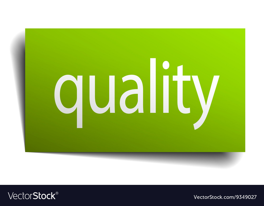 Quality square paper sign isolated on white vector