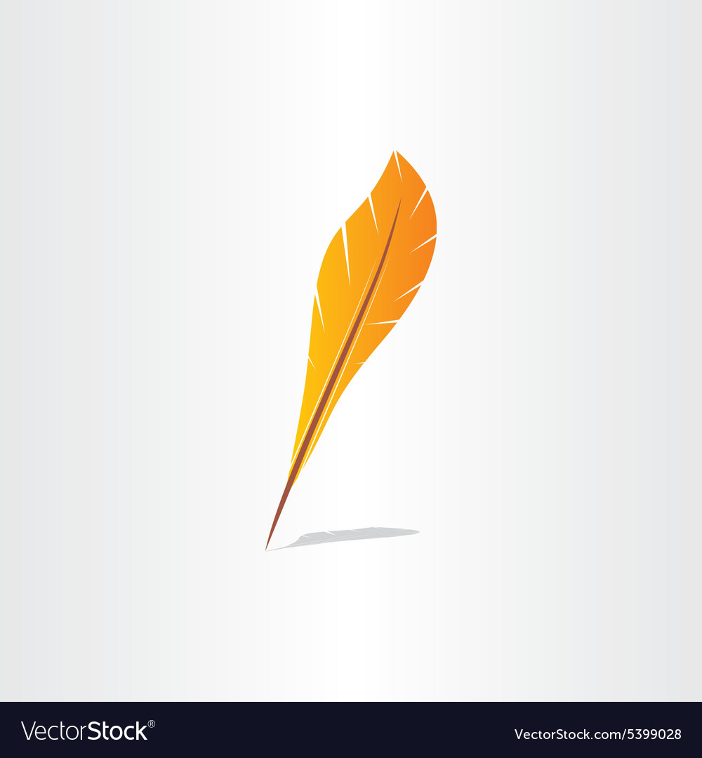 Feather symbol abstract icon vector