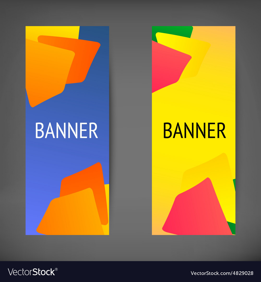 Vertical web banners vector