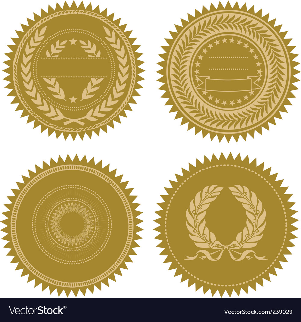Award seal set vector