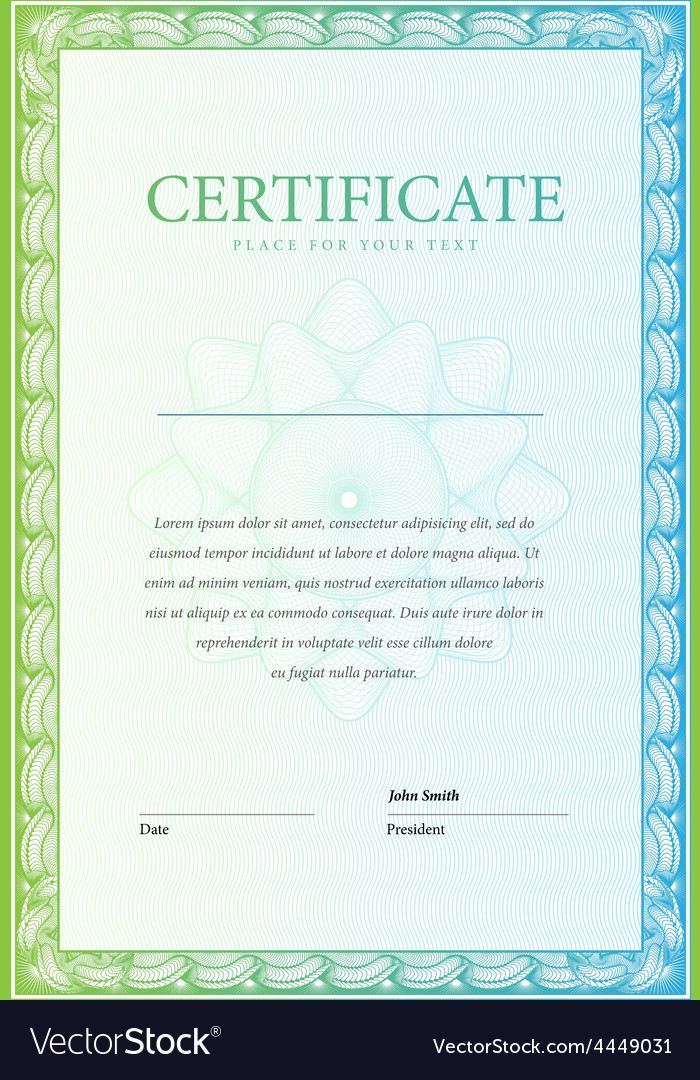 Certificate pattern currency and diplomas vector