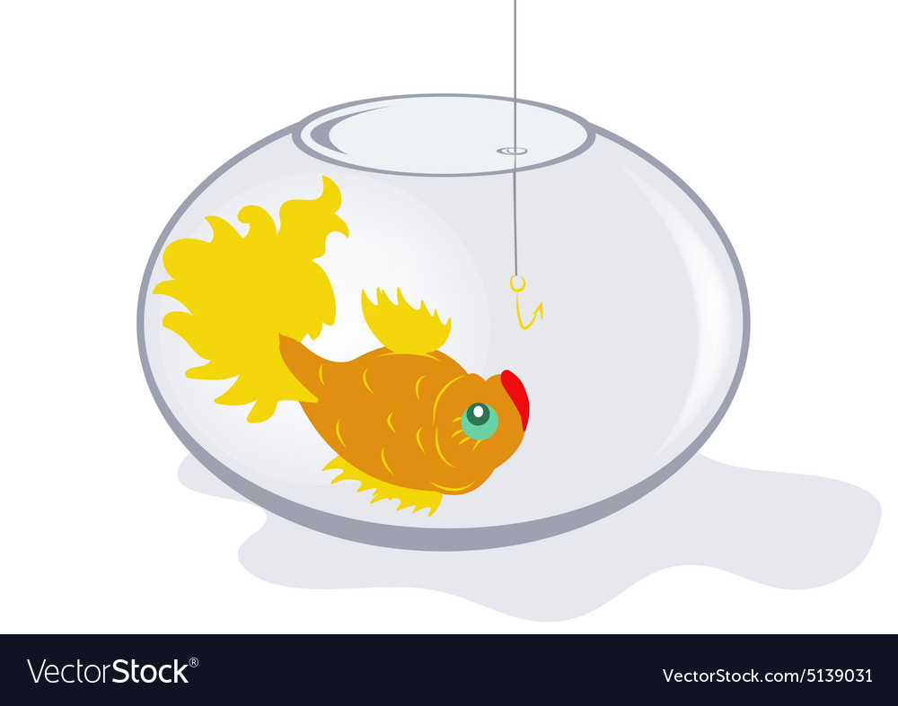 Fish in an aquarium vector