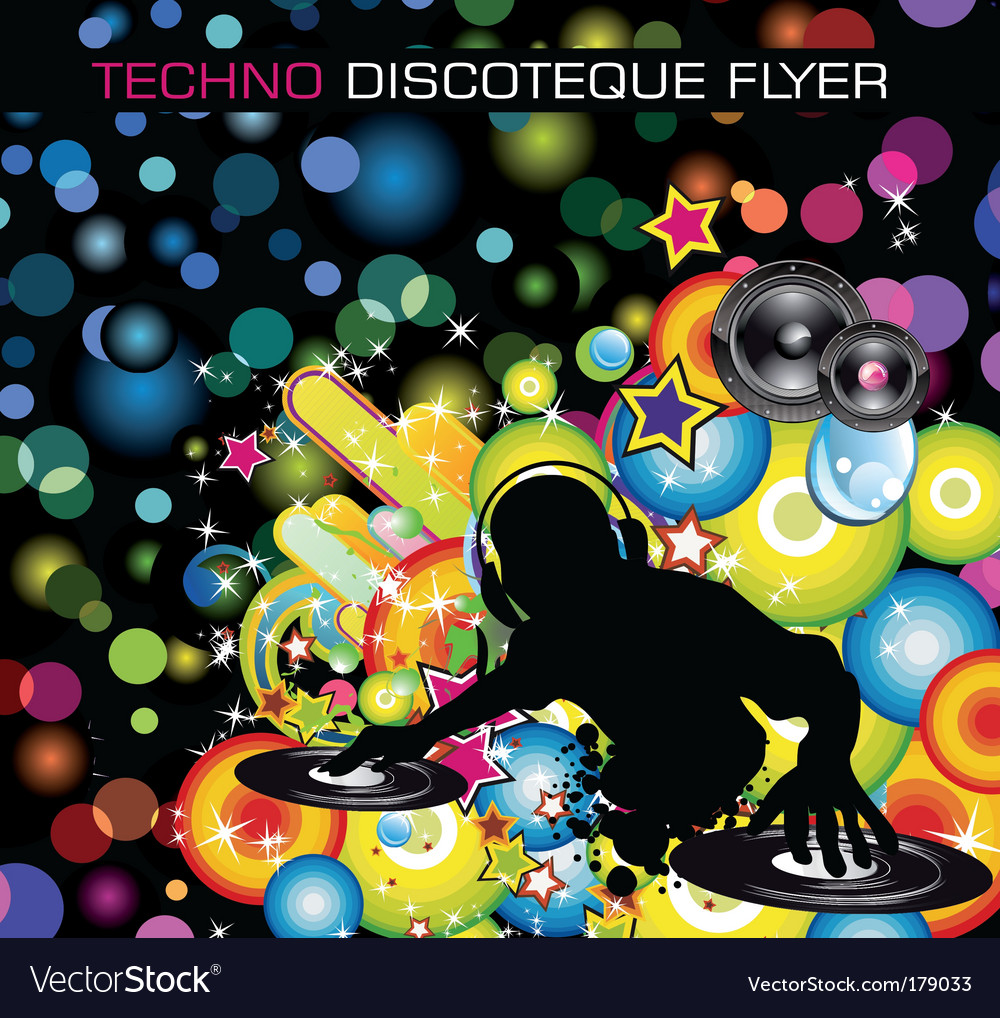Techno dj vector