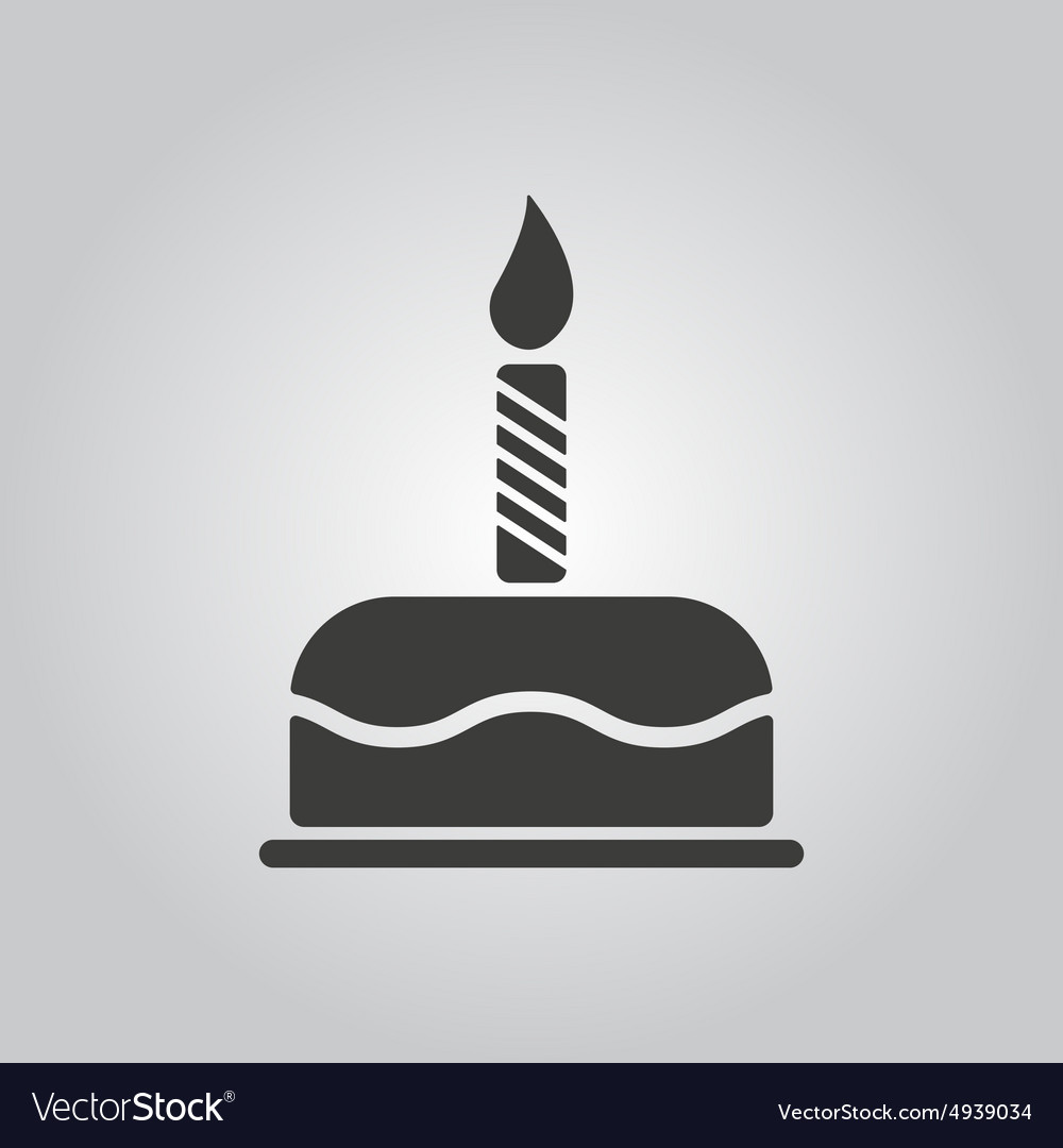 Birthday cake with candles icon dessert vector