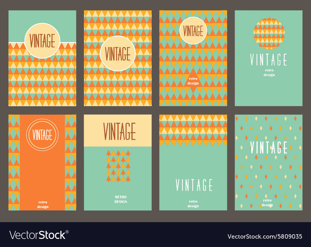 Set of creative vintage cards best creative hand vector